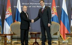 Владимир Путин и Александр Вучич. Фото с сайта kremlin.ru