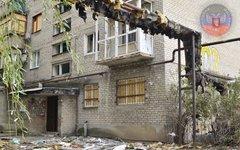 Последствия обстрела Киевского района Донецка. Фото с сайта dnr.today