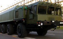 Шасси МЗКТ-79291 для ПГРК «Рубеж». Фото с сайта vpk.gov.by