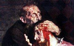 Фрагмент картины «Иван Грозный убивает своего сына»