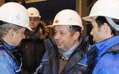 Владимир Лисин (в центре). Фото с сайта nlmk.com
