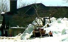 Последствия снегопада. Кадр телеканала ABC News