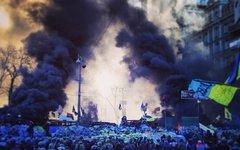 Центр Киева днем 20 февраля. Фото пользователя Instagram darynka_she