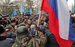 Пророссийский митинг в Симферополе © РИА Новости, Тарас Литвиненко
