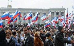 Митинг в Симферополе. Фото с сайта referendum2014.ru