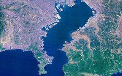 Спутниковый снимок Токийского залива. Фото с сайта wikipedia.org