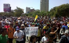 Акция протеста в Венесуэле. Фото с сайта wikipedia.org