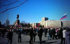 Митинг в Харькове 11 марта. Фото пользователя Твиттер @ashvchk