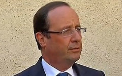 Франсуа Олланд. Кадр с видео на elysee.fr