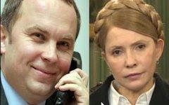 Нестор Шуфрич и Юлия Тимошенко. Стоп-кадр с видео в YouTube