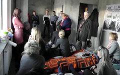 Голодающие в недостроенных корпусахЖК «Охта-модерн». Кадр видео с YouTube
