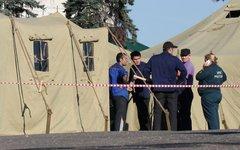 Палаточный лагерь для нелегальных мигрантов © KM.RU, Алексей Белкин