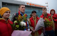Участники молодежной экспедиции «На лыжах - к Северному полюсу»© РИА Новости, М