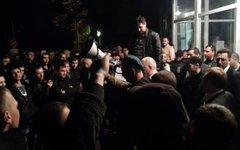 Забастовка шахтеров в Луганске. Фото с сайта podrobnosti.ua