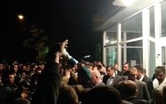 Забастовка луганских шахтеров. Стоп-кадр с видео в YouTube