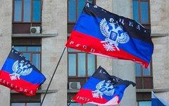 Флаги Донецкой народной республики. Фото с сайта 3mv.ru