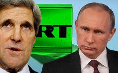 Джон Керри и Владимир Путин. Коллаж © KM.RU
