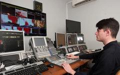 Аппаратная в симферопольской телестудии © РИА Новости, Тарас Литвиненко