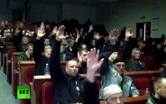 Заседание в Донецкой ОГА. Кадр телеканала Russia Today