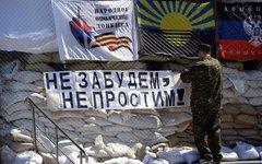 Один из блокпостов ополчения в Славянске © РИА Новости, Михаил Воскресенский