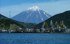 Петропавловск-Камчатский с Авачинской губы. Фото с сайта wikimedia.org