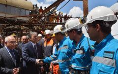 Визит президента Абдуллы Гюля на шахту. Фото с сайта tccb.gov.tr