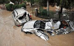 Затопленные машины в городе Обреновац  © РИА Николай Соколов