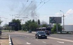 Дым над аэропортом Донецка. Фото пользователя Instagram yulia_iulskaya
