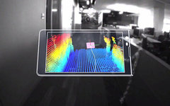 Смартфон c 3D-сканером пространства. Стоп-кадр с видео в YouTube