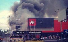 Горящий стадион клуба КХЛ «Донбасс». Фото пользователя Instagram @kapitannemonhl