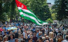 Митинг оппозиции в Абхазии © РИА Новости, Михаил Мокрушин