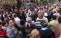 Пикет в Одессе. Фото с сайта dumskaya.net