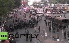 Военные на улицах Бангкока. Кадр телеканала Russia Today