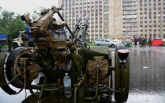Зенитная установка в Донецке © РИА Новости, Наталья Селиверстова