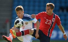 Футболисты России и Норвегии © РИА Новости, Александр Вильф