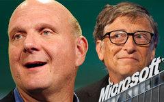 Стив Балмер и Билл Гейтс. Коллаж © KM.RU