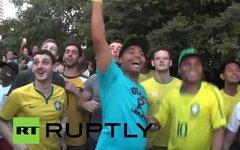 Бразильские болельщики. Кадр телеканала Russia Today