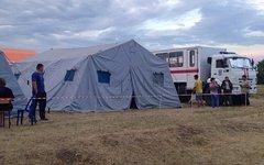 Палатка для беженцев. Фото пользователя Instagram polinazavy