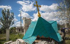 Разрушенный купол часовни в Черевковке © РИА Новости, Андрей Стенин