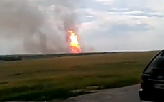 Место взрыва. Кадр из видео в YouTube