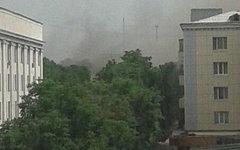 Центр Луганска после обстрела. Фото пользователя Twitter @z_zenja
