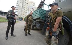 Бойцы народного ополчения в Луганской области © РИА Новости, Евгений Биятов