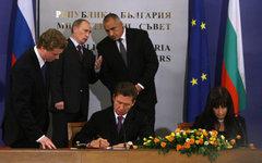 Подписание договора по «Южному потоку» © РИА Новости, Алексей Никольский