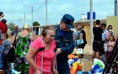 Переселенцы с Украины в Севастополе. Фото пресс-службы местного управления МЧС