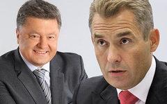 Петр Порошенко и Павел Астахов. Коллаж © KM.RU