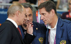 Владимир Путин, Виталий Мутко и Александр Жуков. Фото с сайта kremlin.ru