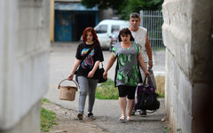 Жители Луганской области покидают свои дома © РИА Новости, Евгений Биятов
