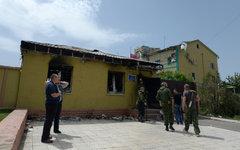 Вход в здание погранслужбы под Луганском © РИА Новости, Евгений Биятов