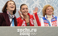 Ирина Тагаева, Аделина Сотниковаи Елена Буянова © РИА Новости,Максим Богодвид