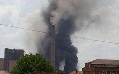 Взрыв на ТЭЦ в Косово. Фото пользователя Твиттер @eva_kushova